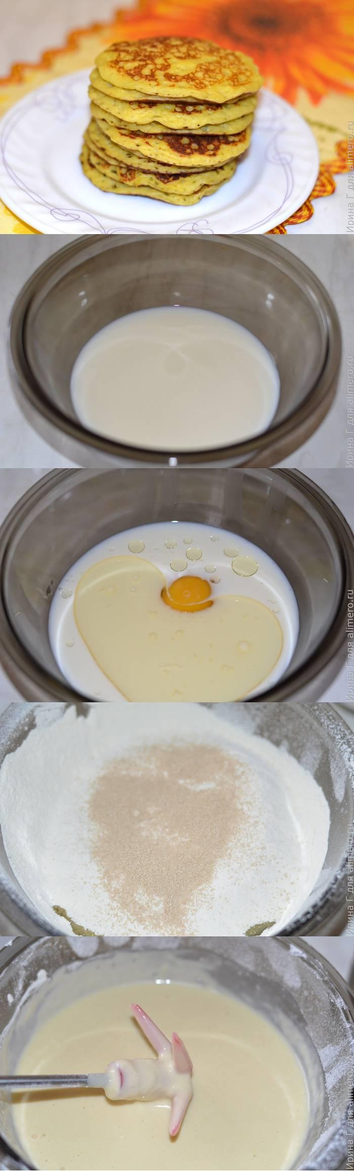 Рецепты дрожжевых блинчиков пошагово
