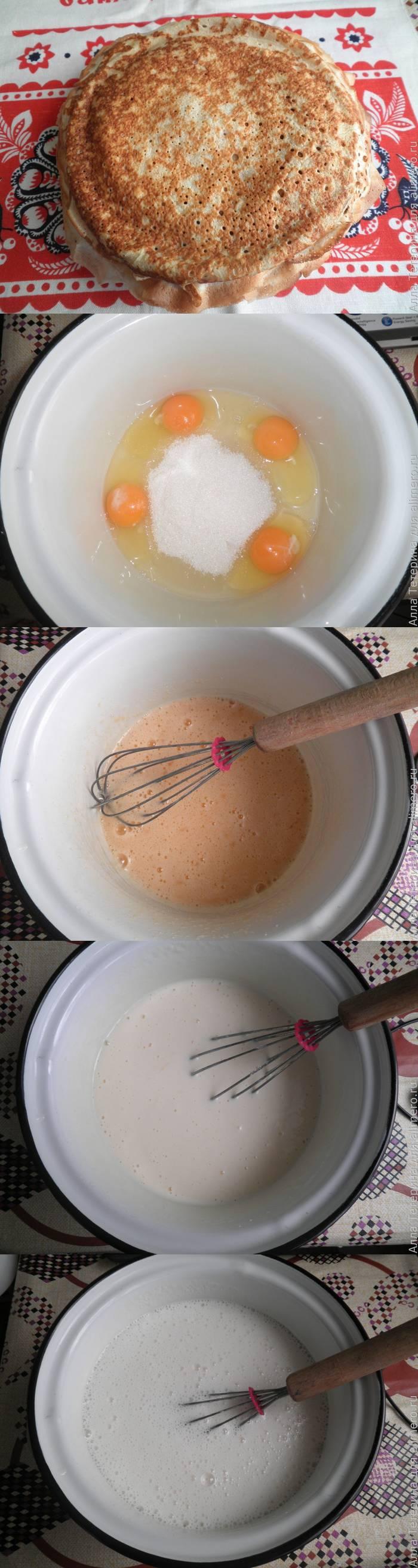 Как сделать блинчики на кефире рецепт с фото