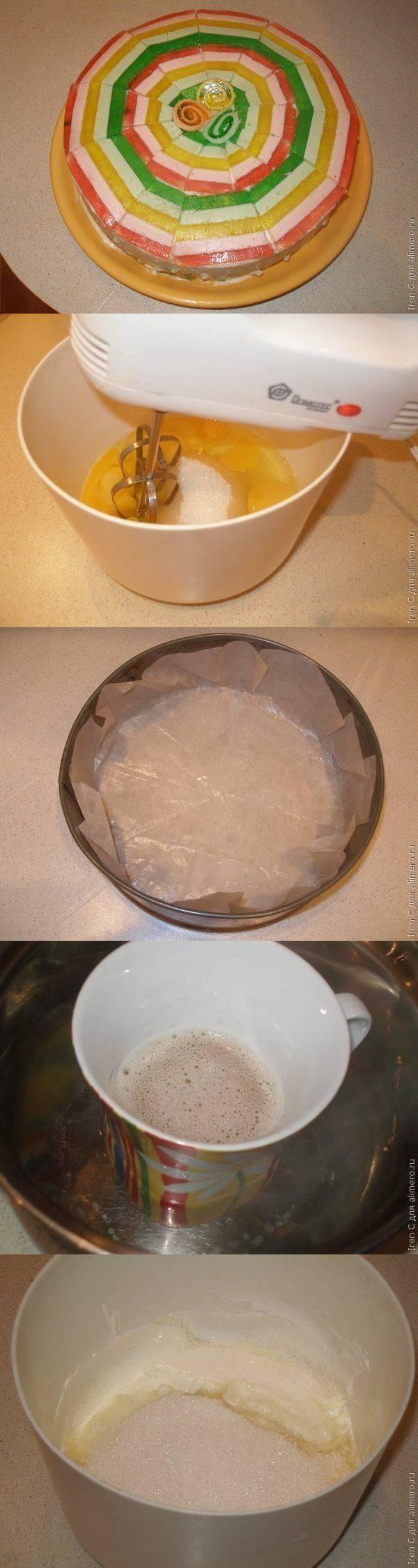"""Торт с мармеладом """"Радуга"""""""