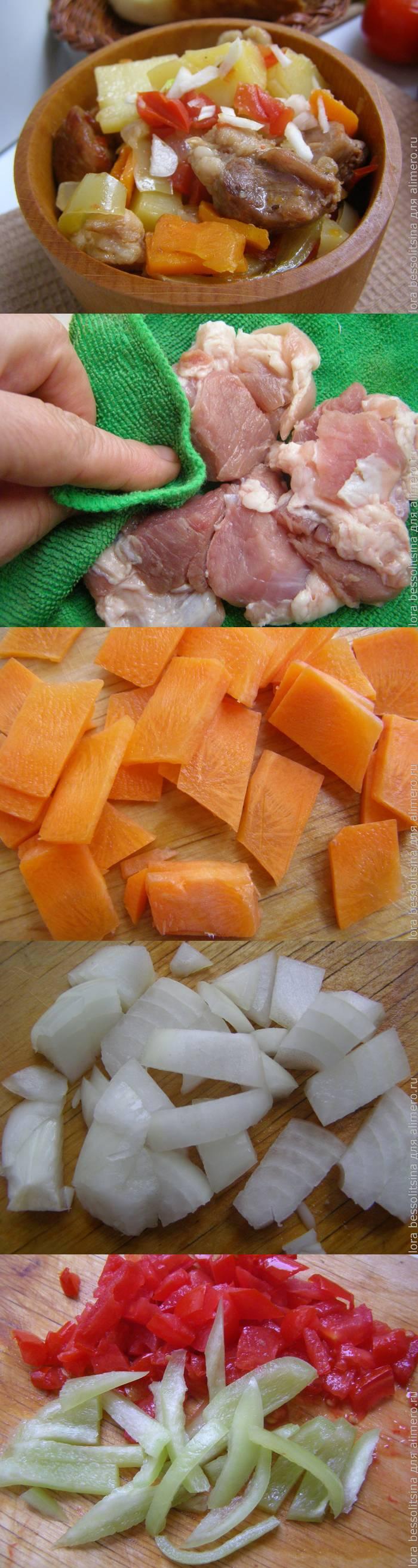 Тушеная картошка с мясом — простой рецепт
