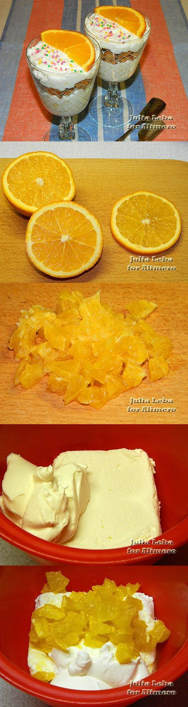Творожный десерт с апельсином