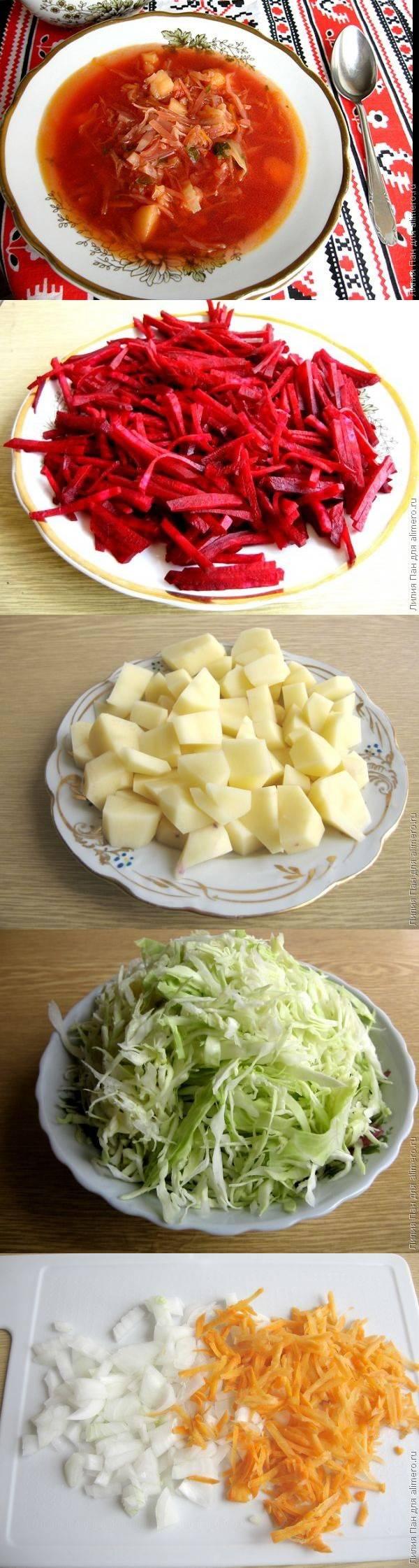 Украинский борщ со свежими помидорами