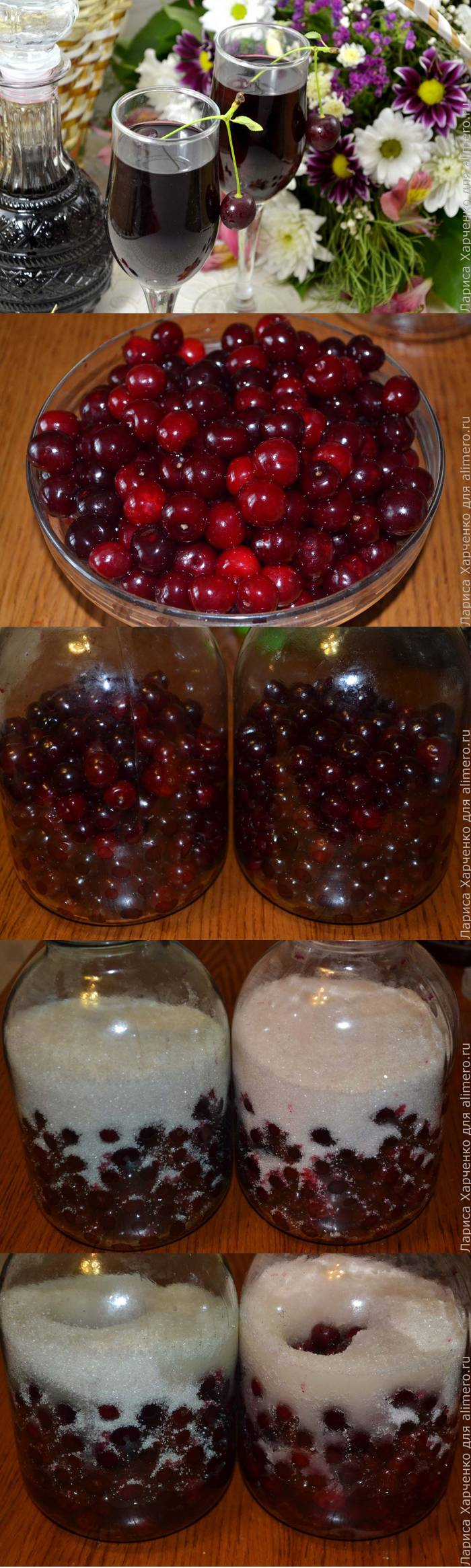 Настойка на вишне в домашних условиях рецепт 76