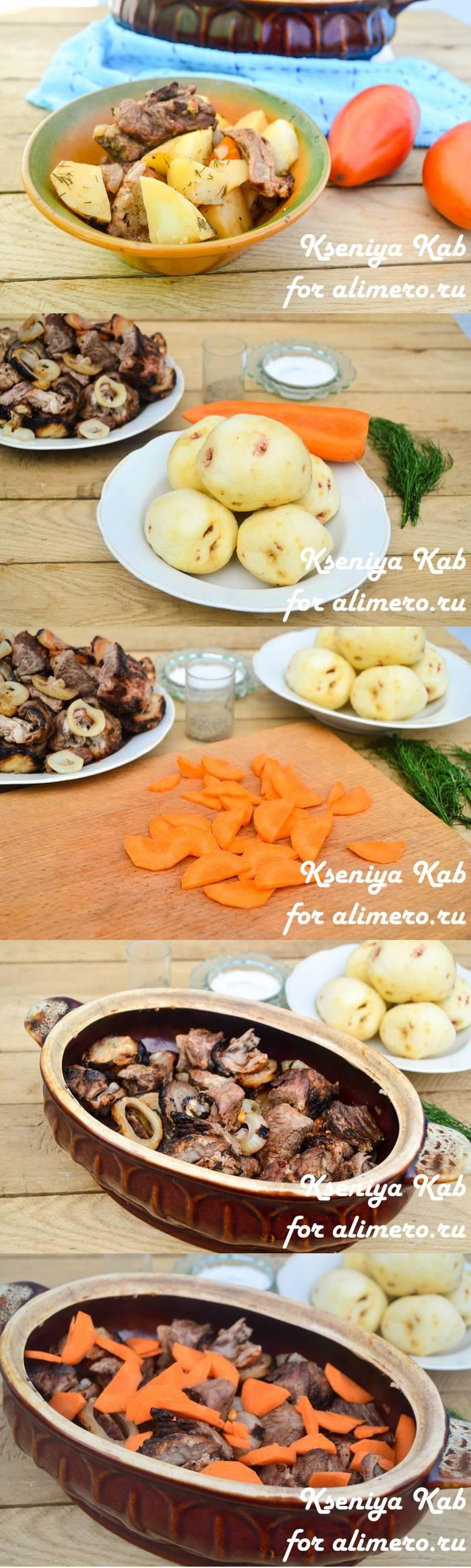 Вкусная картошка с шашлыками в духовке