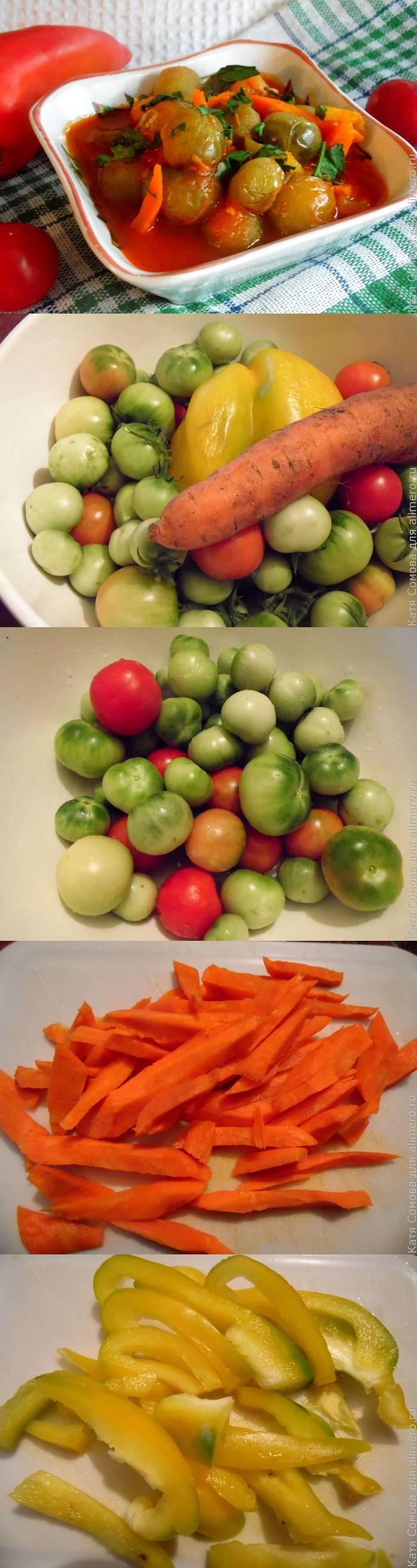 Зеленые помидоры в томатном соусе