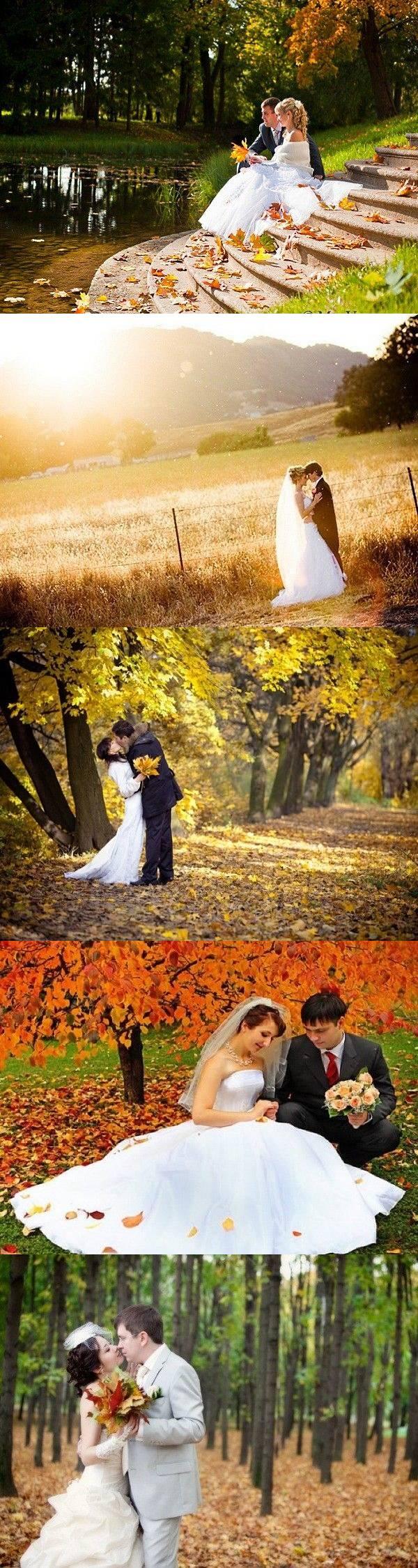 32 идеи осенней свадебной фотосессии