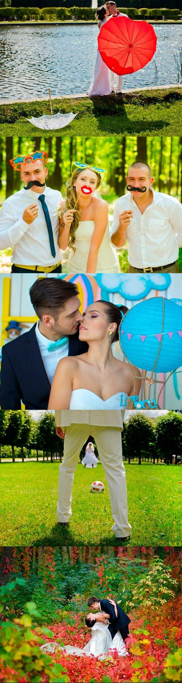 38 оригинальных идей свадебной фотосессии