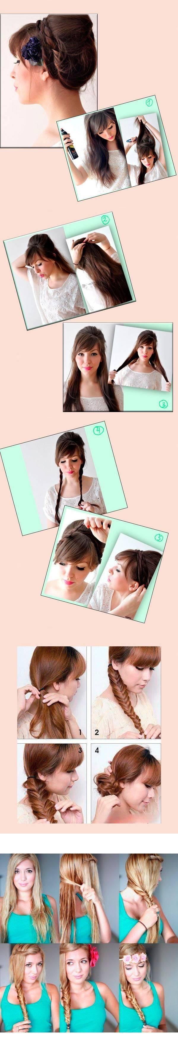 Прически с косами для длинных волос