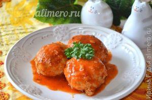 Тефтели с гречкой в томатном соусе, рецепты с фото