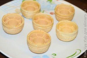 Сырная закуска в тарталетках с семгой