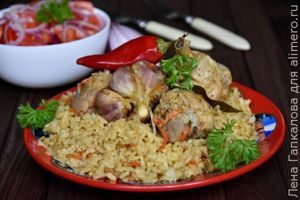 Узбекский плов быстрого приготовления с курицей