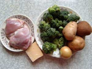 суп-пюре из брокколи с сыром