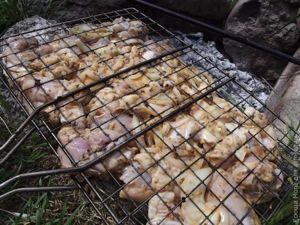 Шашлык из курицы на карамельном дыме