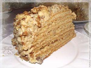 Медово ореховый торт рецепт