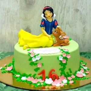 Оформление торта для девочки