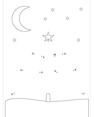 Учить ребенка рисовать по точкам можно с тех пор, как он освоил цифры до 5-ти. Первые шаблоны вы можете делать самостоятельно.