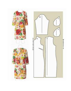 Для того,чтобы пошить такое платье, можно использовать старое постельное белье в цветочек. Не бойтесь фантазировать и отступать от выкроек!