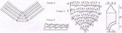 Купальники. Схемы вязания