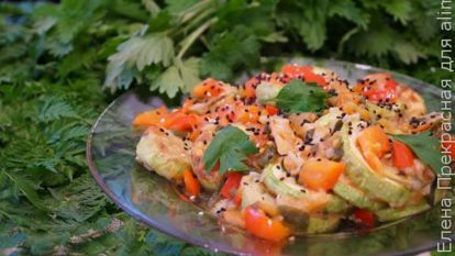 Закуска из кабачков с сырной намазкой и сладким перцем - рецепт пошаговый с фото