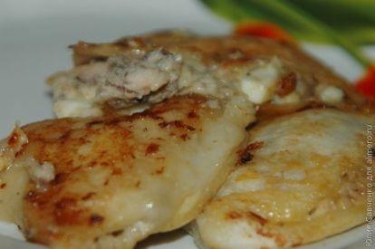 Закуска из тарталеток с рыбными консервами - рецепт пошаговый с фото
