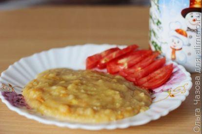 Филе сельди под морковно-гороховым пюре - рецепт пошаговый с фото