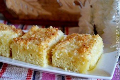 Пирог Жаренный кокос - рецепт пошаговый с фото