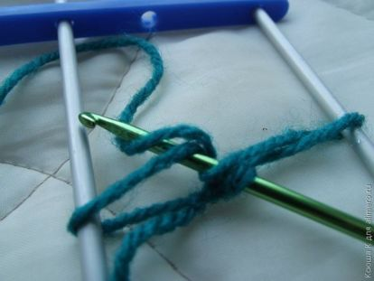 Способы соединения полос вязание на вилке 80