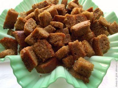Сухарики из ржаного хлеба - рецепт пошаговый с фото