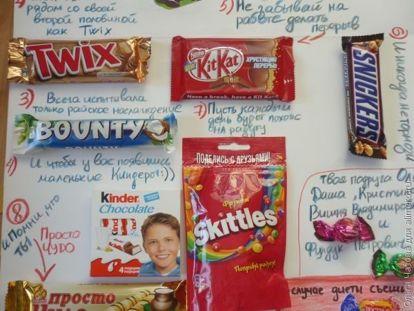 Плакат своими руками со сладостями фото 335