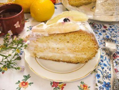 Простой бисквитный торт с ананасами - рецепт пошаговый с фото