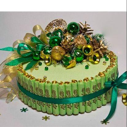 Мастер класс торт из конфет 107