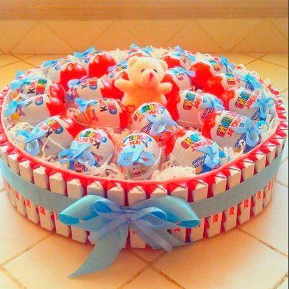 как сделать декоративный торт из конфет
