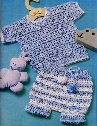 вязание штанишек от 0 до 3