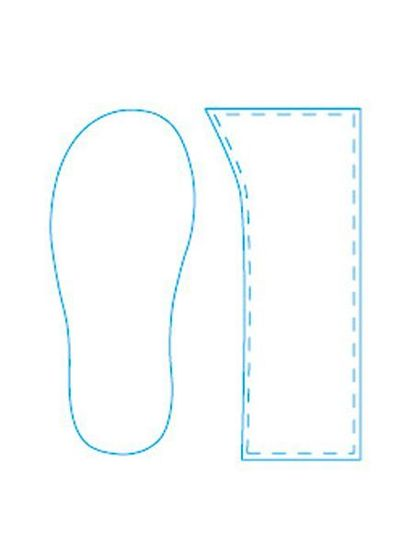 Шаблоны тапочки по технологии 4 класс из бумаги
