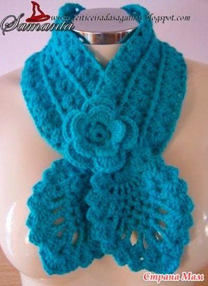 Вязание крючком шарфов женских 165