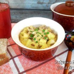 Рецепт картошки в духовке с плавленным сыром