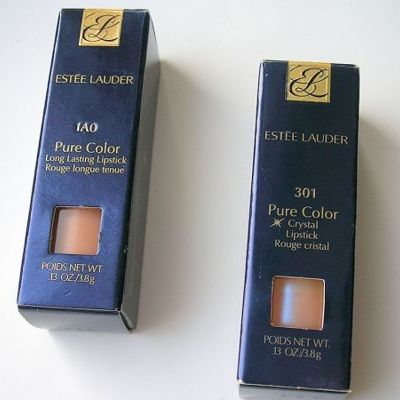 Губная помада Estee Lauder Pure Color: Long lasting оттенок VANILLA TRUFFLE и Crystal оттенок CRYSTAL BABY - отзыв