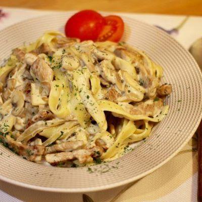Паста из свинины со сливками - пошаговый рецепт с фото на Повар.ру
