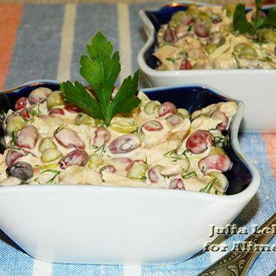 салат легкий с горохом рецепт