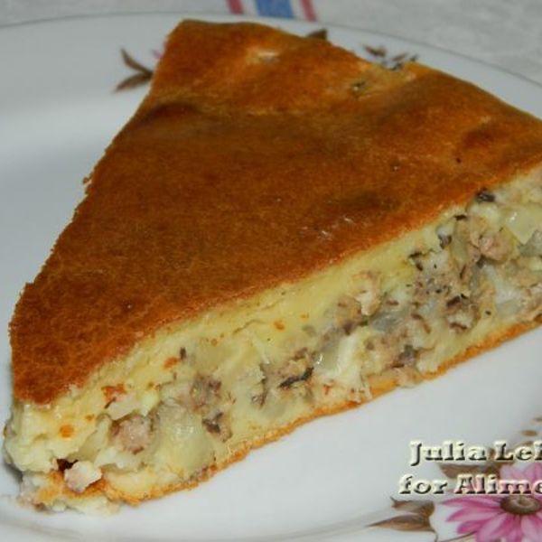 Пирог с сардиной рецепт