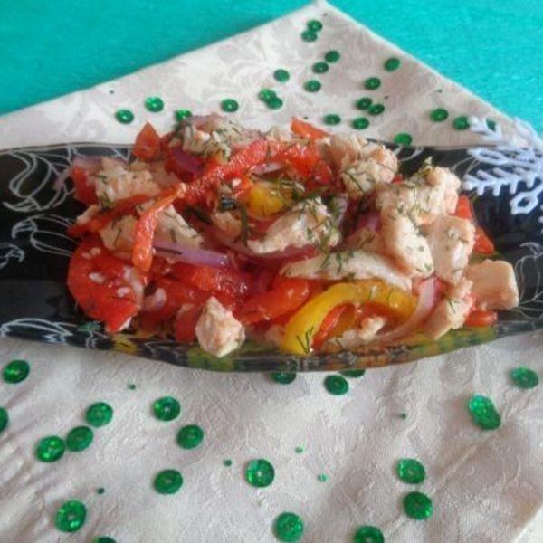 Салат с мясом и болгарским перцем - рецепт с фото