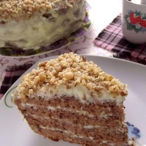 Торт молодость как раньше рецепт с яблочным кремом