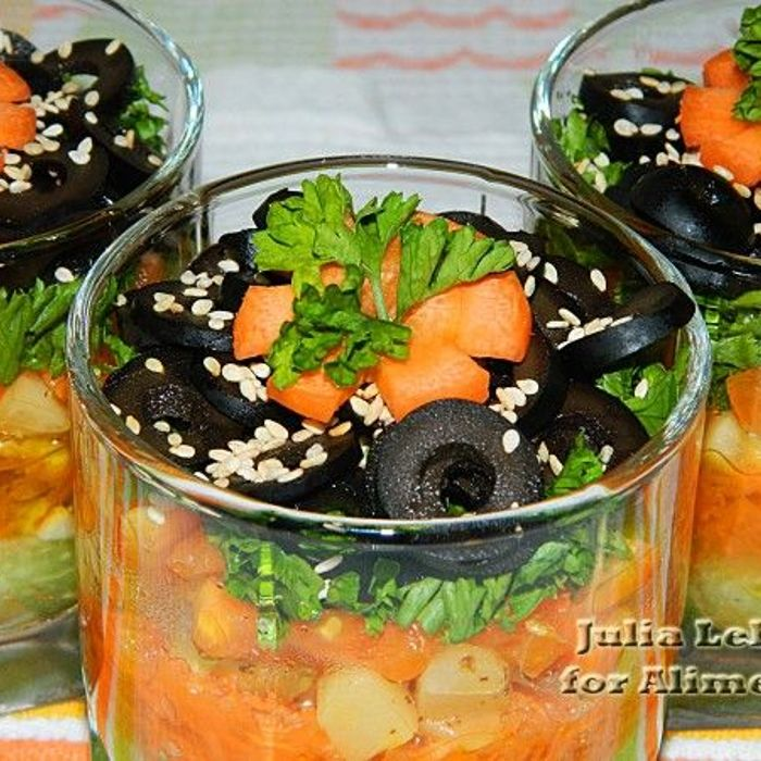 Легкие салаты на масле с фото