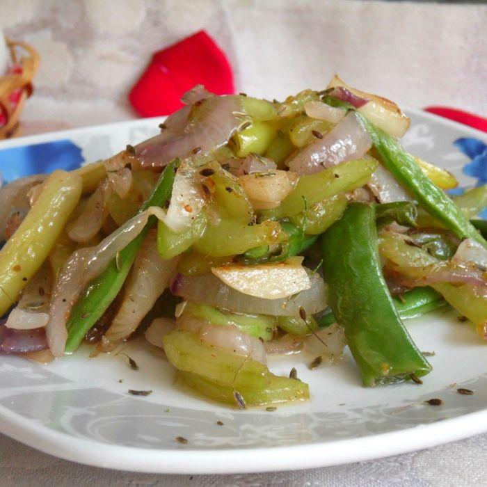 салат в зиму со спаржевой фасолью рецепты