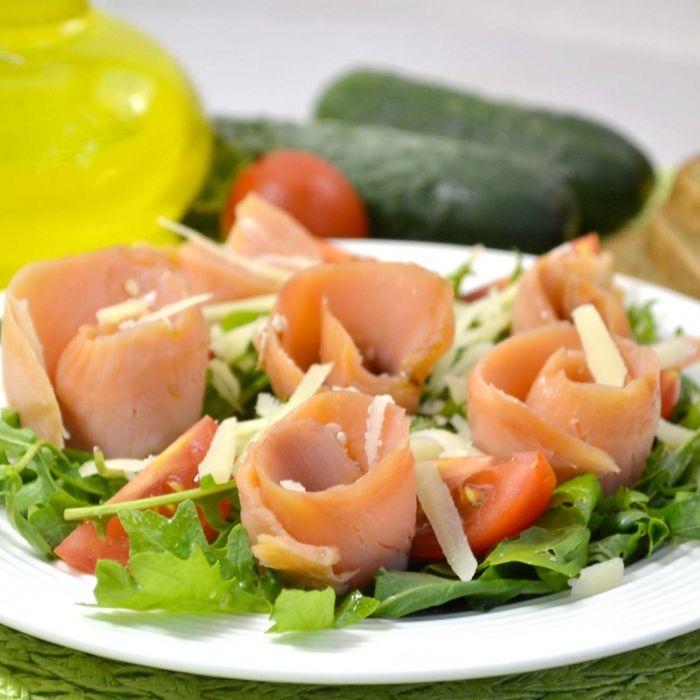 салаты из копченой рыбы с фото