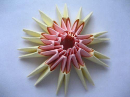 Модульное оригами цветы схема сборки ромашки