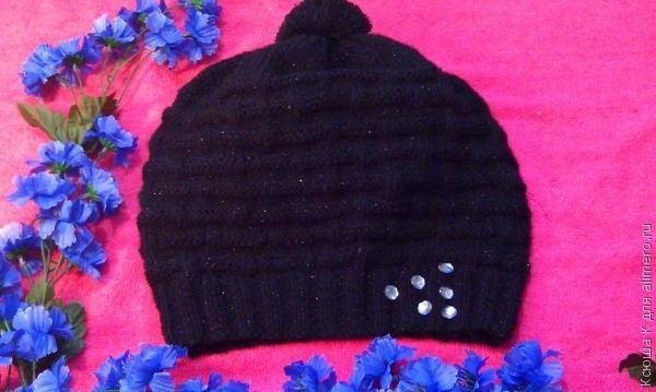 описание. вязание шапок девочек