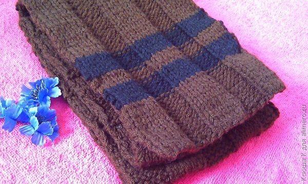 Двухцветный мужской шарф