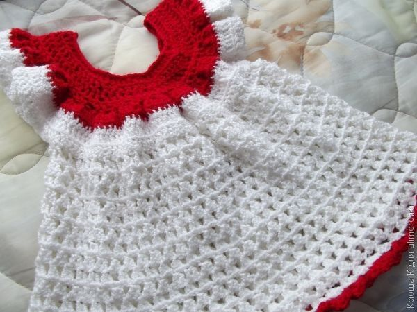 крючком платье для девочки