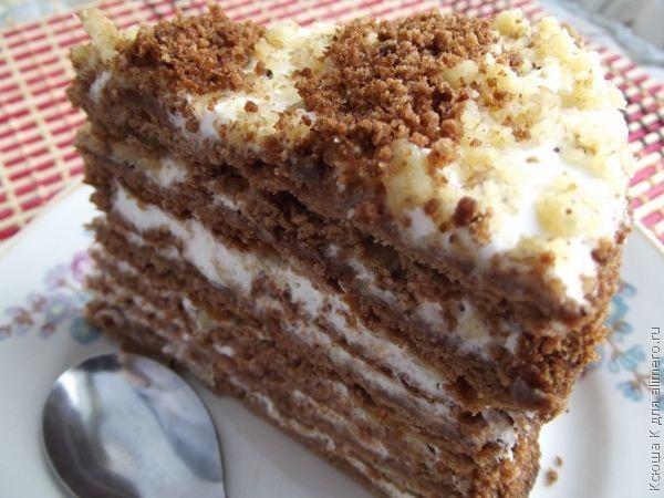 Шоколадный торт со сметанным кремом / Торты / TVCook